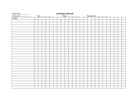 14 attendance sheet templates free word excel pdf documents