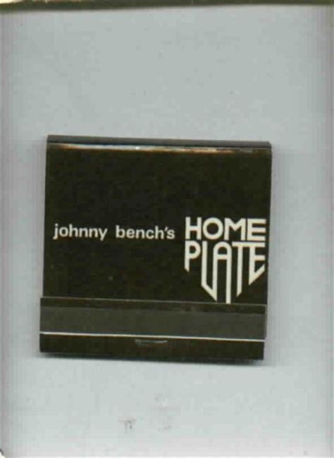 johnny bench restaurant johnny bench s home plate restaurant matches front strike