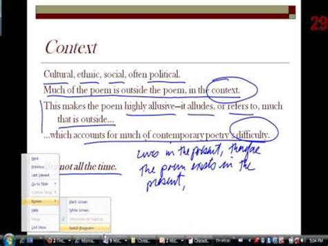characteristics of contemporary characteristics of contemporary poetry pt 2