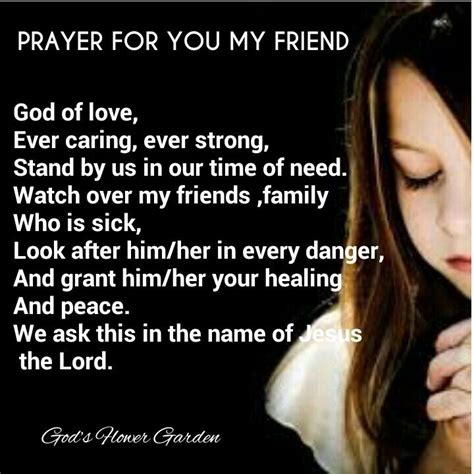 prayer for sick healing prayers for sick friends