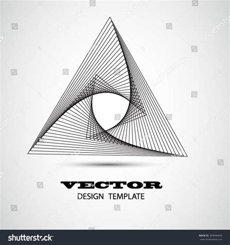 Logo Design Vector Art Abstract Geometry Stock Vector 394046659 Shutterstock Modern Logo Template