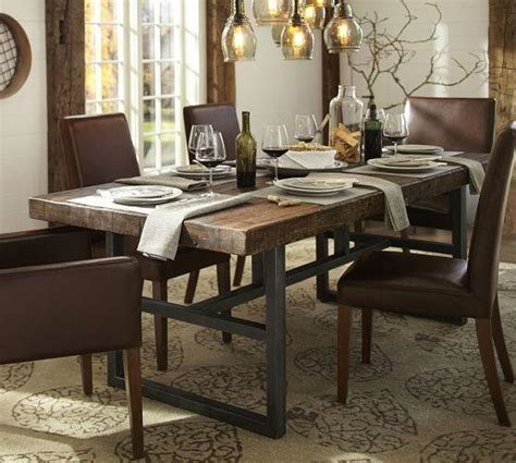 Pottery Barn Griffin Table griffin fixed dining table pottery barn