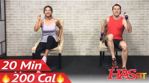 20 min chair exercises sitting workout hasfit free length workout and