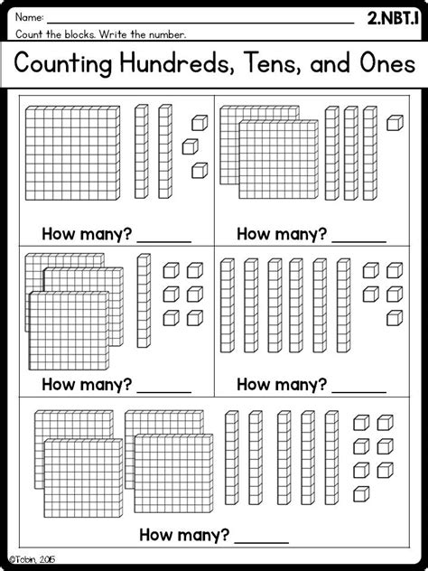 printable tens and units worksheets 2nd grade math printables worksheets numbers and