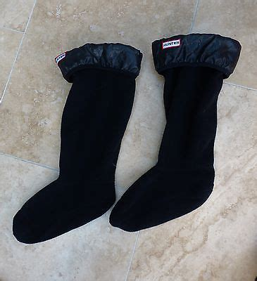 new 'hunter' boot socks in black with shiny turn down