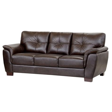 Abbyson Leather Sofa Abbyson Living Timston Leather Sofa In Brown Ci 1789 Brn 3
