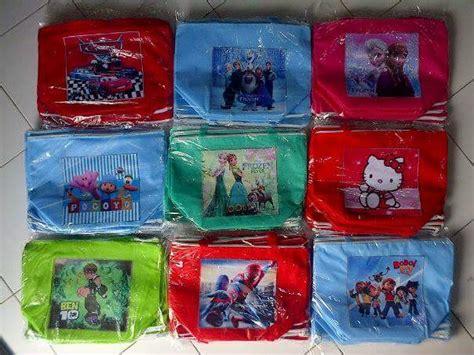Pony Tas Tenteng Anak Biru jual tas kapal 20x17 goodie bag souvenir ulang tahun anak