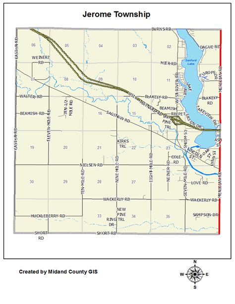 Midland County Records County Of Midland Michigan Gt Equalization Gt Tax Maps Gt Jerome Township