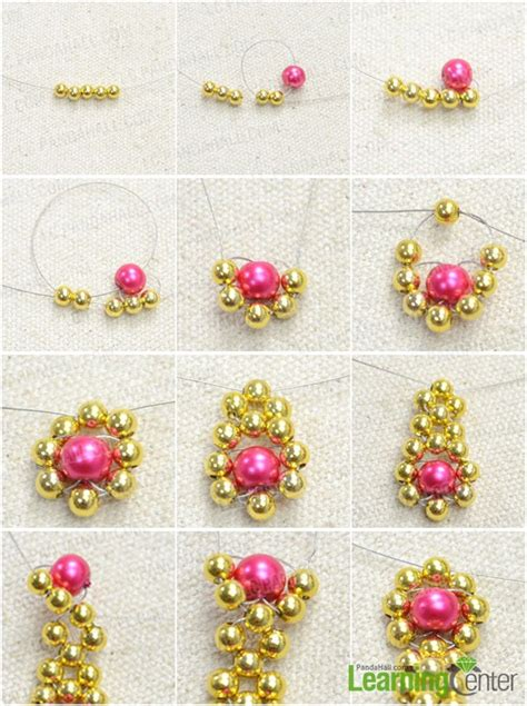 how to make a beaded flower necklace beaded flowers necklace pattern with simple weave