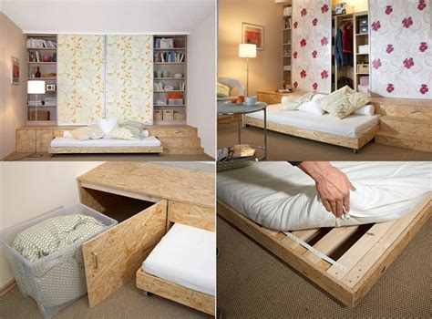 practical solution  small apartments hidden bed home