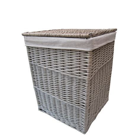 laundry basket antique wash square wicker laundry basket