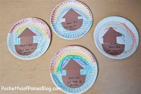 Paper Plate Bible Crafts - sunday school crafts noah s ark blessings overflowing