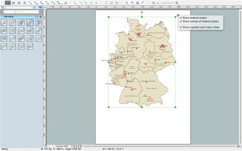 germany geographical map germany map