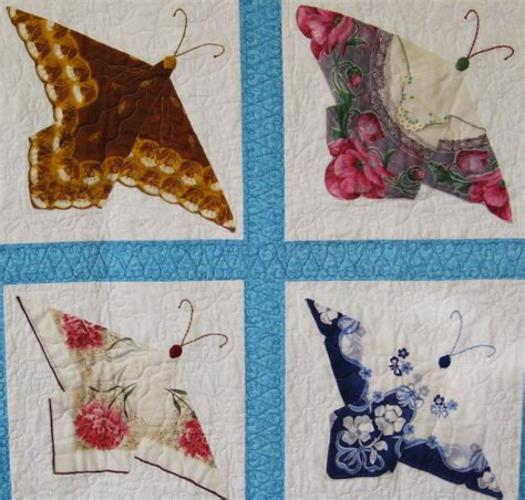 Handkerchief Butterfly Quilt Pattern by Cobayley Artful Recycling Of Vintage Treasures Ruby
