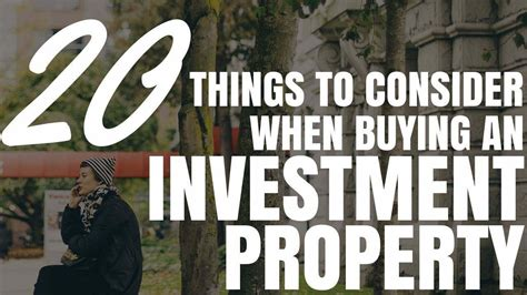 things to consider when buying a home 20 things to consider when buying an investment property ep197 youtube