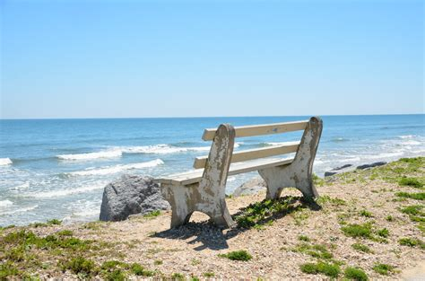 bench on the beach bench seat on the beach free stock photo public domain pictures