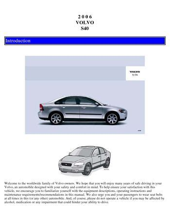 download car manuals pdf free 2010 volvo s40 spare parts catalogs download 2006 volvo s40 owner s manual pdf 127 pages