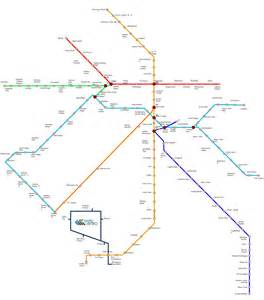 Metro Map by Delhi Metro Map And Route Of Orange Red Green Violet