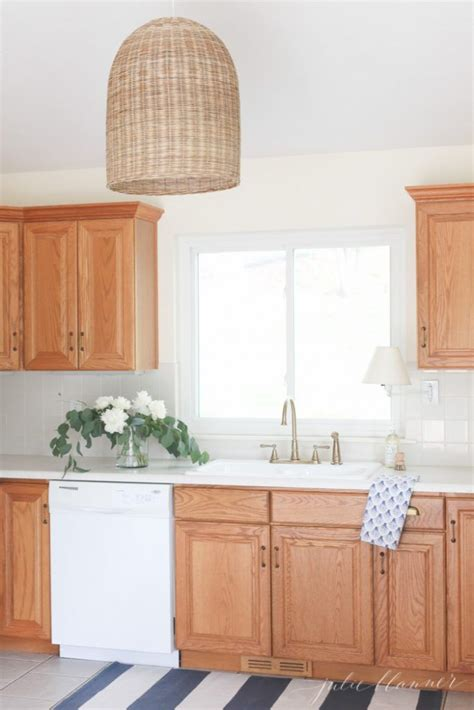 how to update oak kitchen cabinets how to update a kitchen with oak cabinets easy home diy