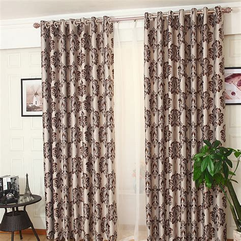 bedroom curtains on sale coffee floral jacquard poly cotton blend bedroom custom