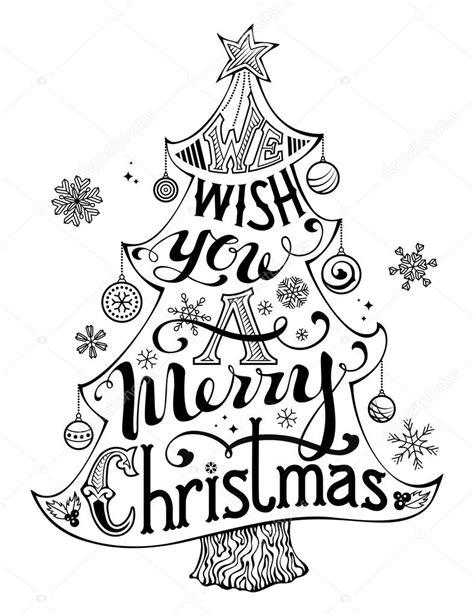 imagenes de merry christmas en blanco y negro frohe weihnachten schriftzug im baum silhouette