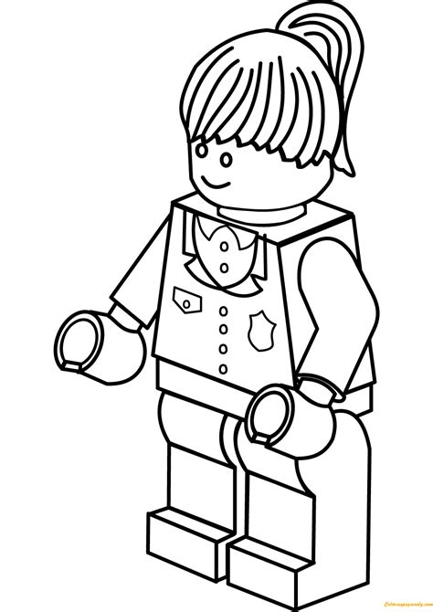 Lego City Police Woman Coloring Page - Free Coloring Pages