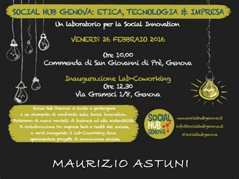 etica genova social hub genova etica tecnologia impresa maurizio
