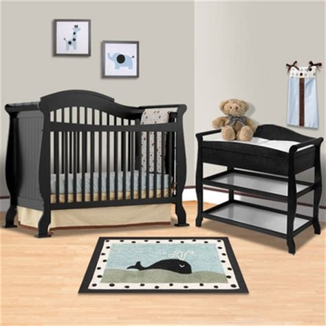 Black Crib With Changing Table Storkcraft Black Valentia Fixed Side Convertible Crib And Aspen Changing Table 2 Nursery