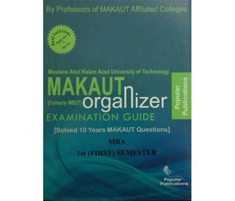 Makaut Mba 3rd Sem Syllabus by Makaut Wbut Organizer Mba 1st Year 1st Semester