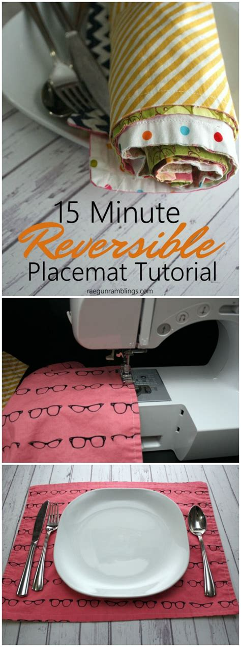 10 Minute Place Mat Pattern - 15 minute reversible placemats tutorial your best diy