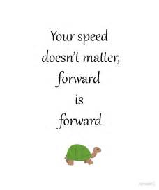 Clock Wall Stickers quot quot your speed doesn t matter forward is forward quot quot by