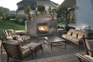 Outdoor Patio Designs With Fireplace Backyard Patio Ideas Landscaping Gardening Ideas