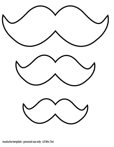 Mustache Print Out Template mustache one year decorations and shirt