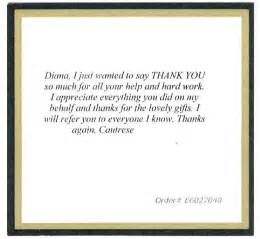 Thank You Letter To Client For Gift Realtor Business Cards
