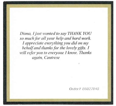 thank you letter to client for purchase reviews for diana lisinski real estate specialist ta