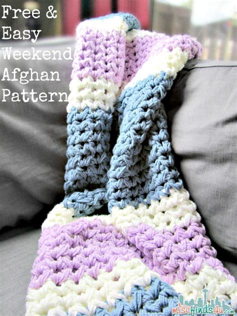 Zulily Home Decor by Easy Weekend Crochet Afghan Free Pattern Baby To Boomer