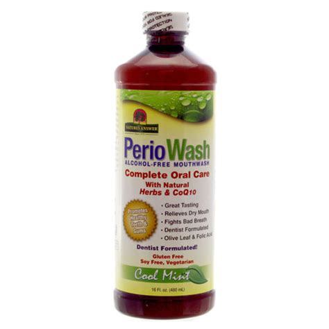 Olive Gargle Detox by Periowash Mouthwash Free Cool Mint Nature S Answer