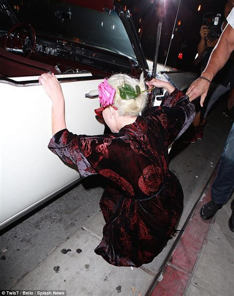Wedding Falls Out Of Car by Gaga Suffers Fall After Misjudging Footing In