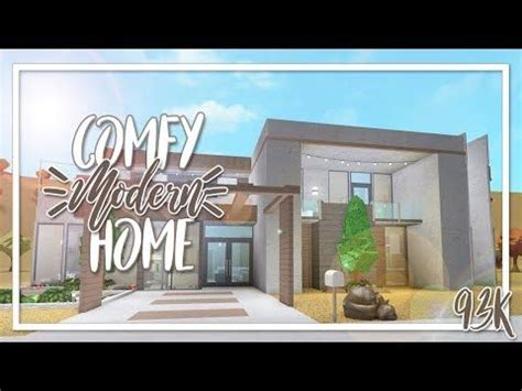 bloxburg  comfy modern home youtube