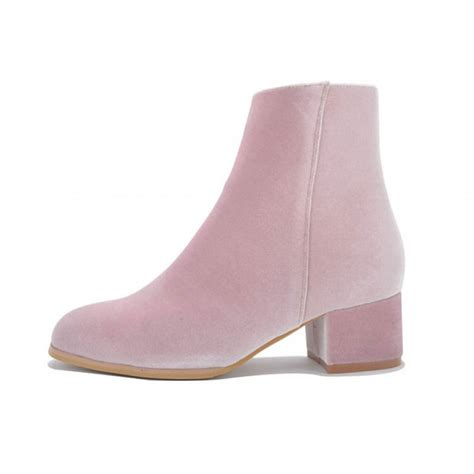 pink suede toe ankle boots