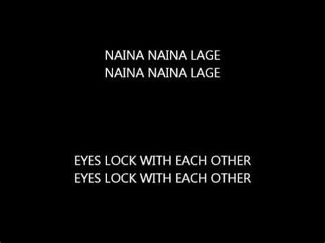 Letter Jab Se Mile Naina tose naina jab se mile lyrics n10