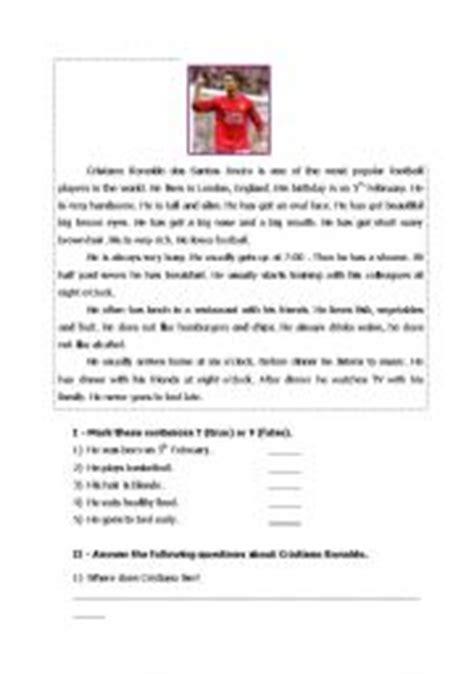 intermediate esl worksheets: cristiano ronaldo
