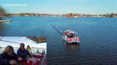 pedal boat oakland first pedal pub in oakland county hits lake orion wxyz