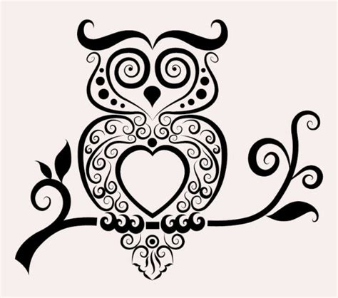 owl pattern vector free download hand drawn owl decoration pattern vector free download