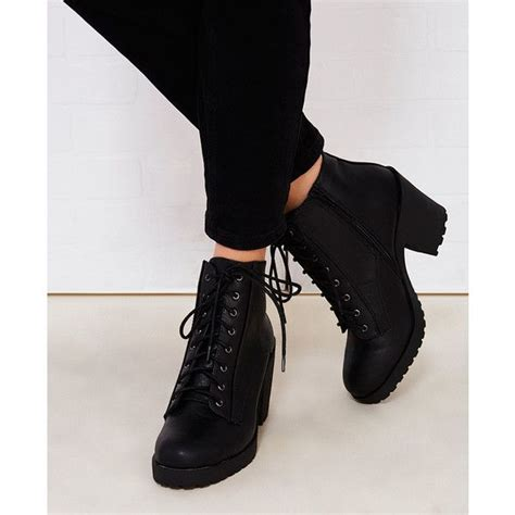 fortune dynamics chunky heeled combat boots 35 liked on