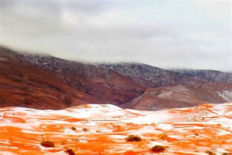 snowfall in desert these photos of a snowy desert show the true effects of climate change sick chirpse