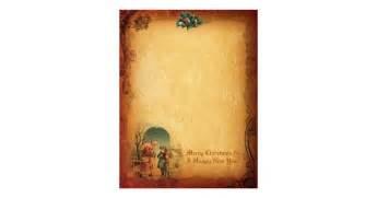 vintage christmas letter paper letterhead design zazzle