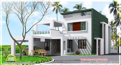 Beautiful Contemporary Low Cost Home In Kerala 1923 Sq Low Cost Modern House Plans In Kerala