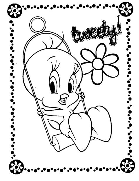 printable coloring pages tweety bird free printable tweety bird coloring pages for