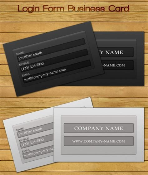 free computer card login template 33 best free business card templates tutorialchip